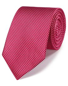 Dark red silk classic natte tie