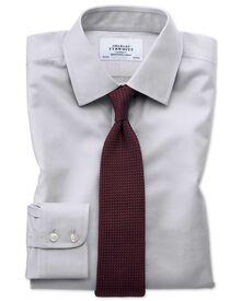 Extra slim fit non-iron twill grey shirt