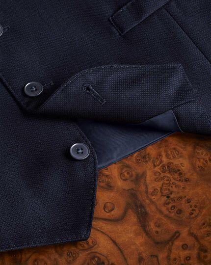 Ink birdseye travel suit waistcoat
