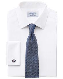 Classic fit non-iron honeycomb white shirt
