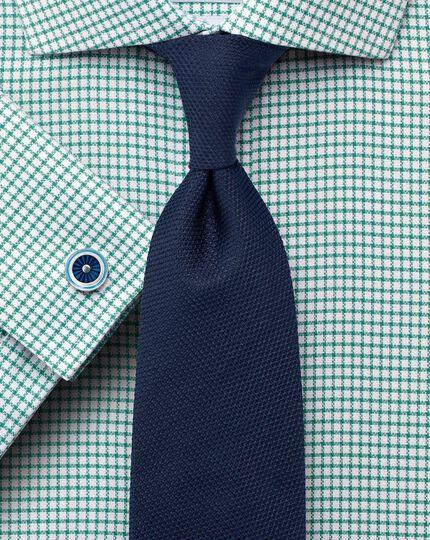 Classic fit non-iron cutaway collar basketweave green shirt