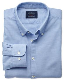 Extra Slim Fit Hemd aus Chambray-Stoff in himmelblau