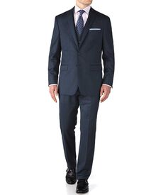 Airforce blue slim fit twill business suit