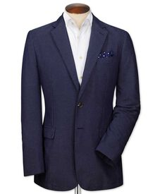 Slim fit blue spot jacket