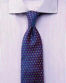Slim fit semi-cutaway collar luxury poplin pink shirt