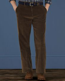 Olive classic fit cord trousers