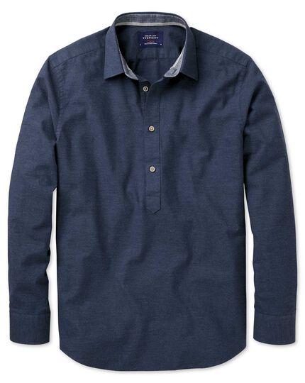 Slim Fit Schlupfhemd in Marineblau