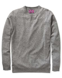Silver cashmere crew neck sweater