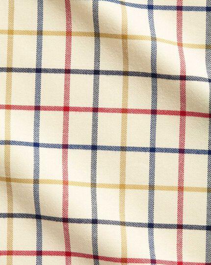 Slim Fit Hemd mit Roten und Blauen Country-Karos