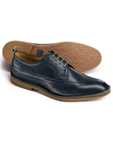 Navy Ledbury wing tip Derby shoes