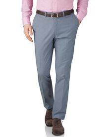 Extra Slim Fit Chambray Stretch-Hose aus Cavalry-Twill in blau