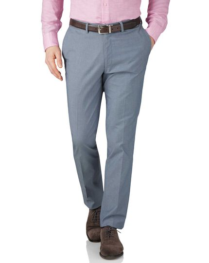 Blue chambray extra slim fit stretch cavalry twill pants