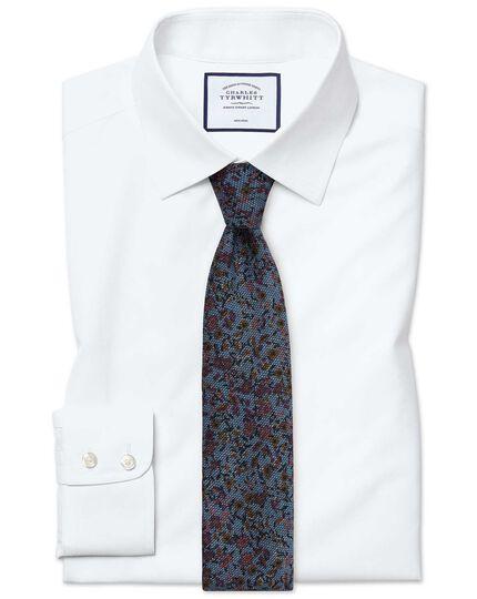Slim fit non iron poplin white shirt charles tyrwhitt for Slim fit non iron shirts