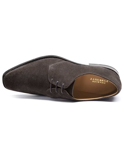 Grey Soho suede Derby shoe