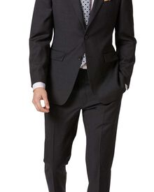 Slim Fit Business Anzug aus Twill in anthrazit
