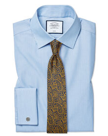 Classic fit non-iron bengal stripe sky blue shirt