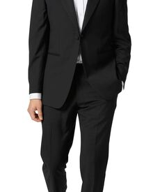 Slim Fit Smoking mit Spitzrevers in schwarz