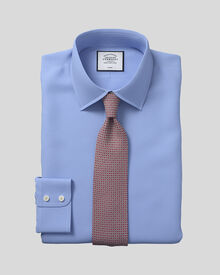 Classic fit non-iron royal Panama blue shirt