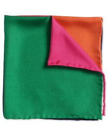 Multicoloured quarter classic pocket square