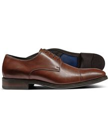 Brown Dutson toe cap Derby shoes