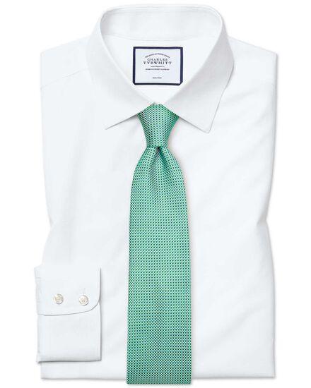 Classic fit non-iron poplin white shirt