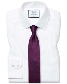Classic fit non-iron royal Panama white shirt