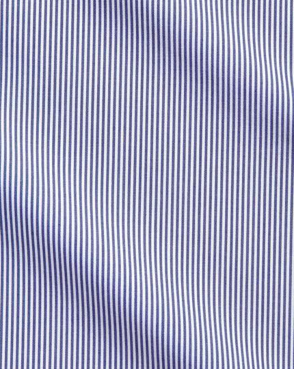 Classic fit non-iron Bengal stripe navy blue shirt