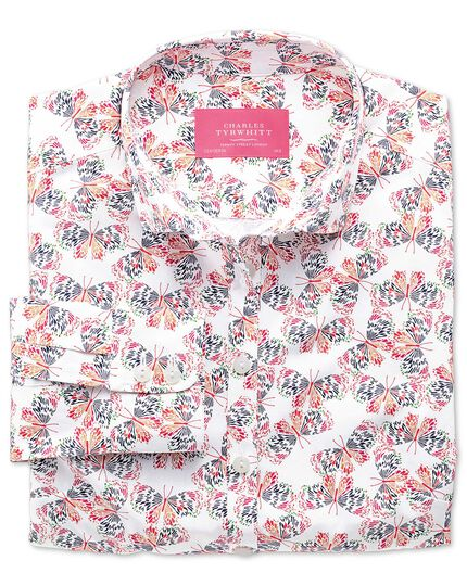 Women's semi-fitted multi print shirt