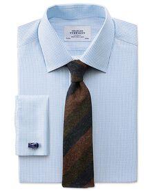 Slim Fit Hemd aus beidseitiger Pima-Baumwolle in Himmelblau