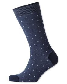 Blue dot socks