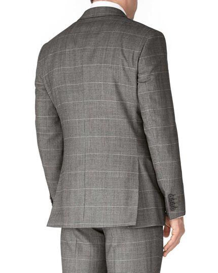Slim Fit Businessanzug Sakko aus Twill in grau mit Karos