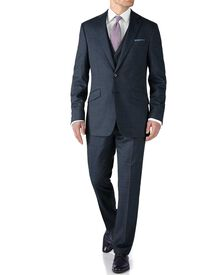 Airforce blue slim fit end-on-end business suit