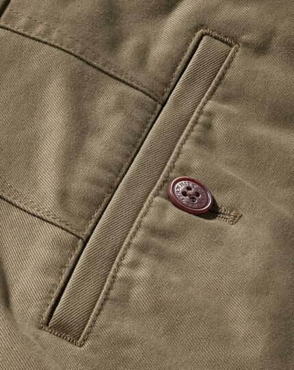 Beige extra slim fit flat front chinos