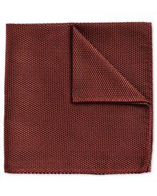 Rust classic plain pocket square