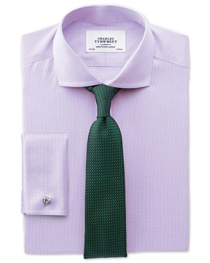 Forest green silk plain grenadine luxury tie