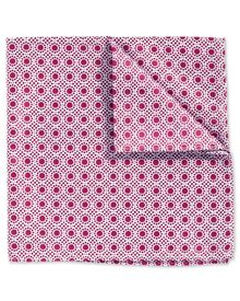 Berry and white classic End-on-End spot pocket square
