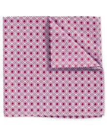 Pochette de costume classique myrtille et blanche fil à fil avec imprimé pois