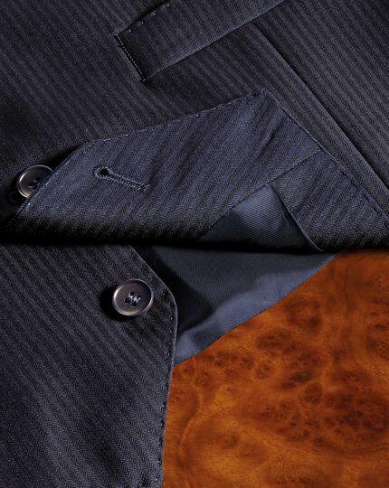 Verstellbare italienische Anzug Weste in Marineblau mit Fischgrätmuster