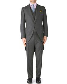 Grey classic fit morning suit