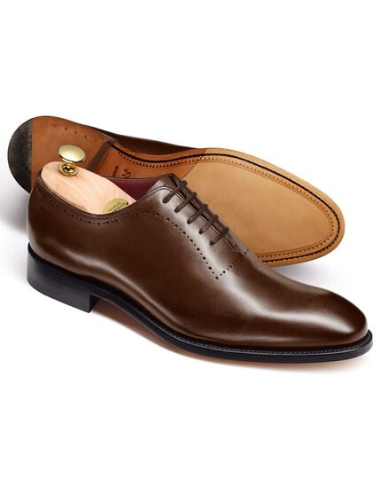 Brown Richmond Calf Leather Wholecut Shoes