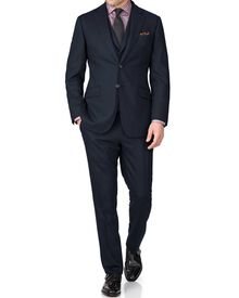 Indigo slim fit saxony business suit