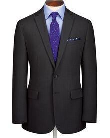 Charcoal classic fit business suit jacket