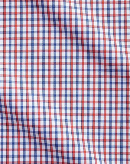 Slim fit two colour check red and blue shirt