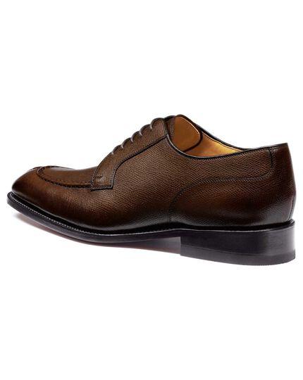 Brown Larrick apron Derby shoes