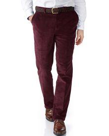 Wine slim fit cord trouser