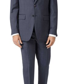 Slim Fit Business Anzug aus Twill in blau