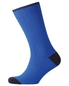 Royal ribbed socks