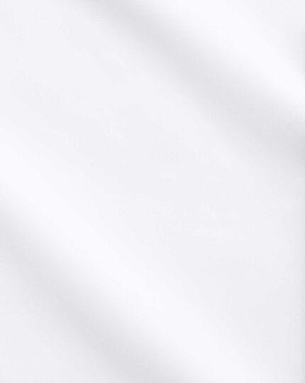 Chemise blanche de luxe sans repassage extra slim fit avec col semi cutaway