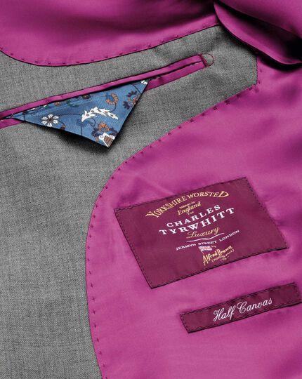 Slim Fit Panama Luxus Anzug Sakko in Silber