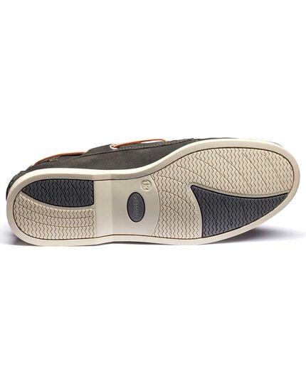 Grey Fowey suede boat shoes